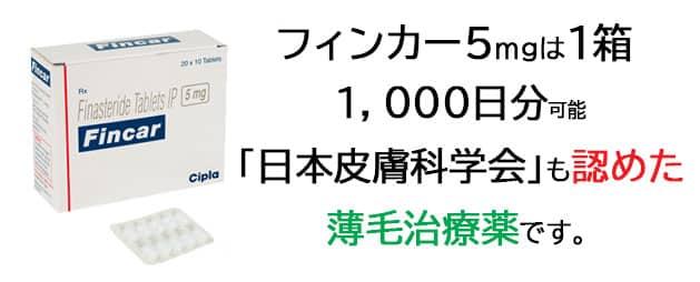 フィンカ―は1箱1,000日分で利用可能
